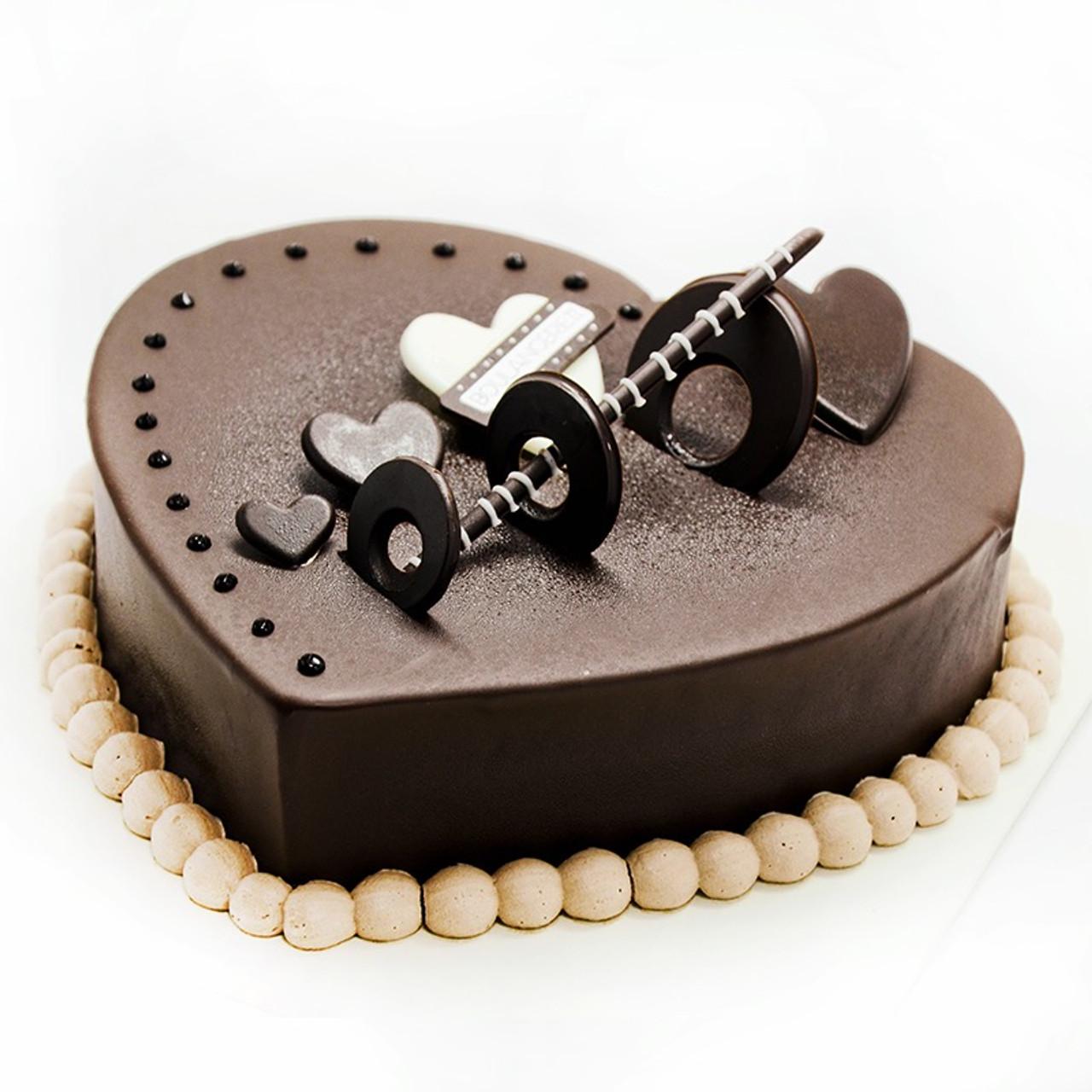 Dark Chocolate Heart Cake