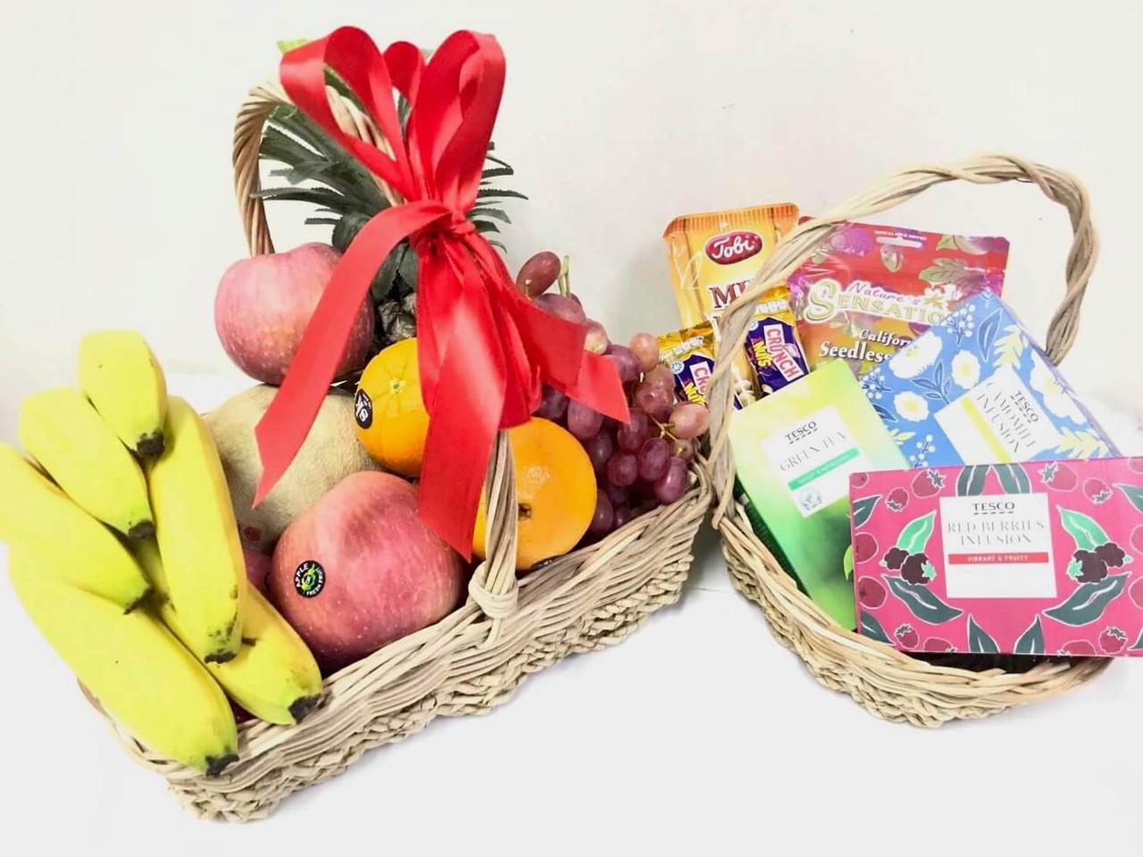 Fruit & Tea Duo Gift Baskets