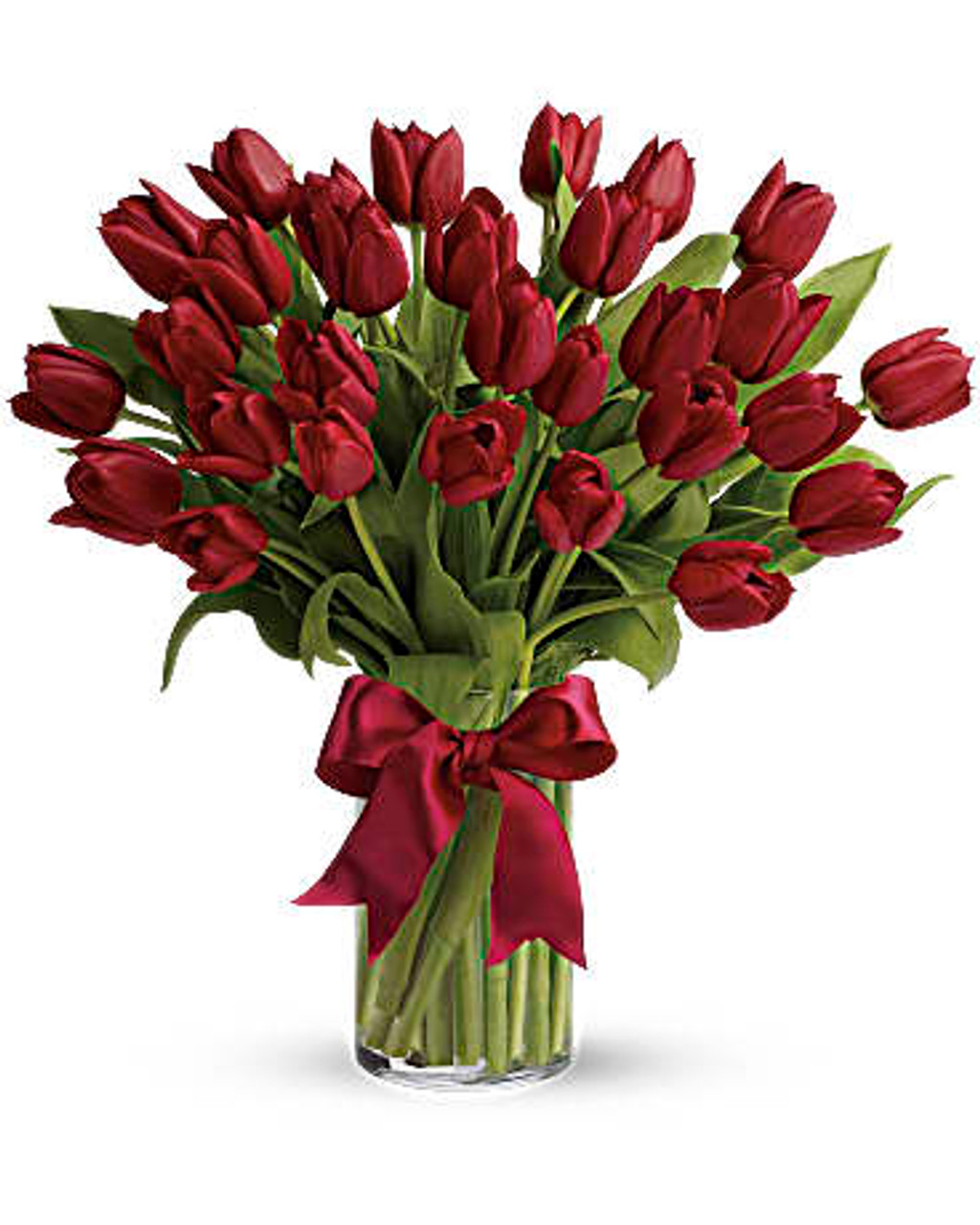 30 Red Tulips Bouquet