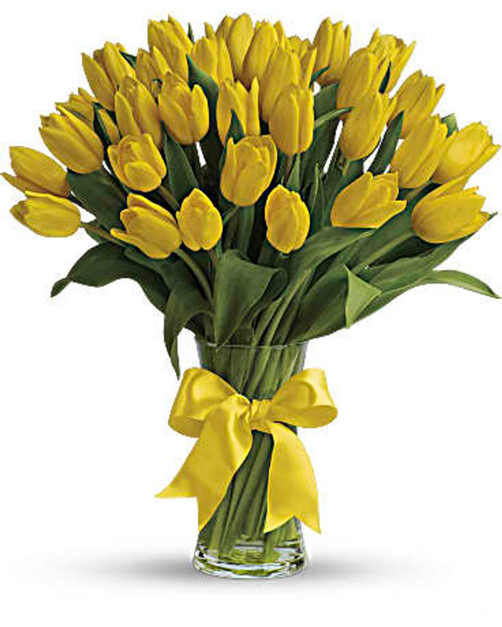 30 Yellow Tulips Bouquet