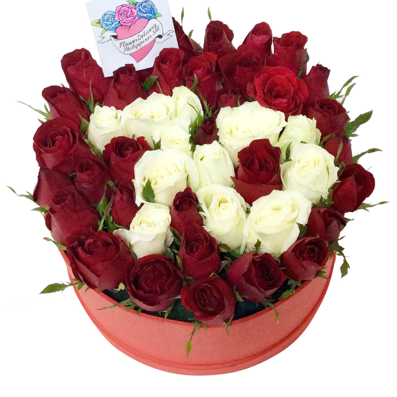 Customizable Number Roses Round Box