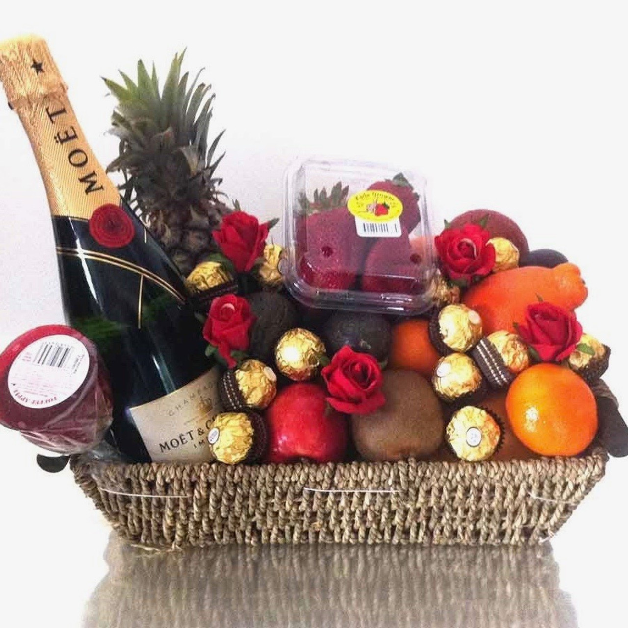 Luxury Indulgence Gift Basket with Roses