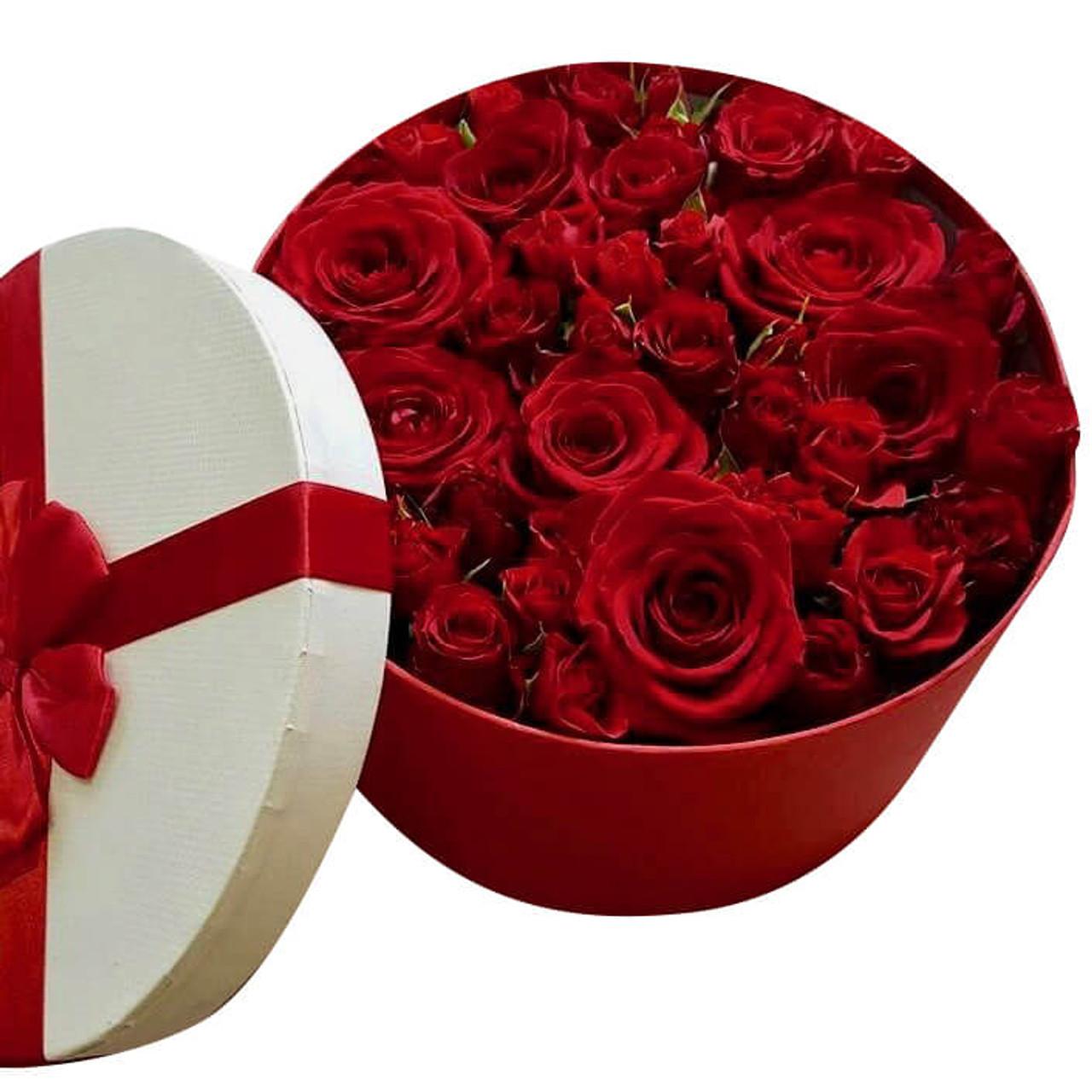 Roses Round Box