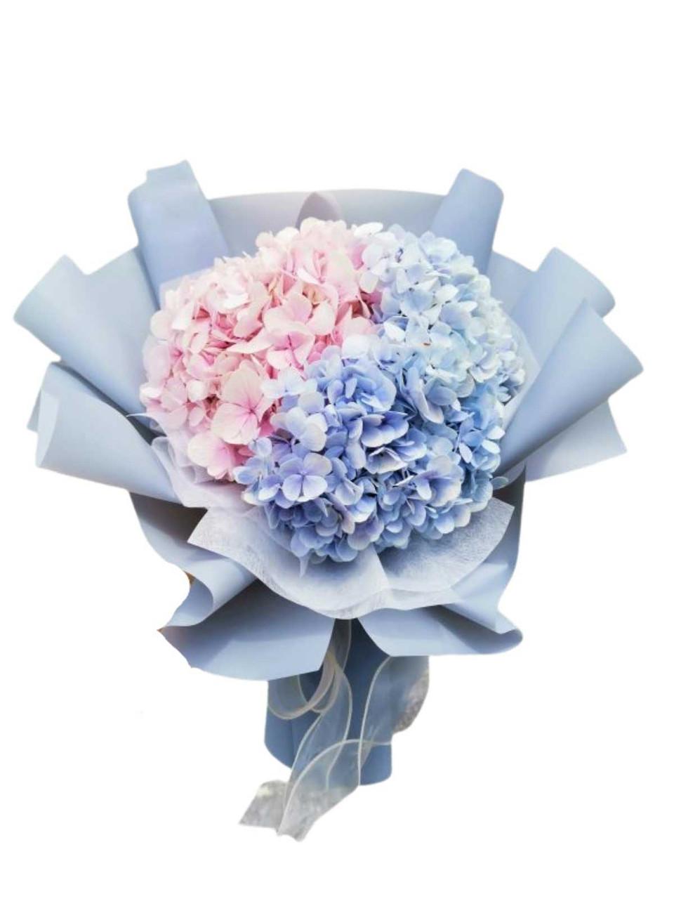 Lavender & Pink Hydrangeas Bouquet