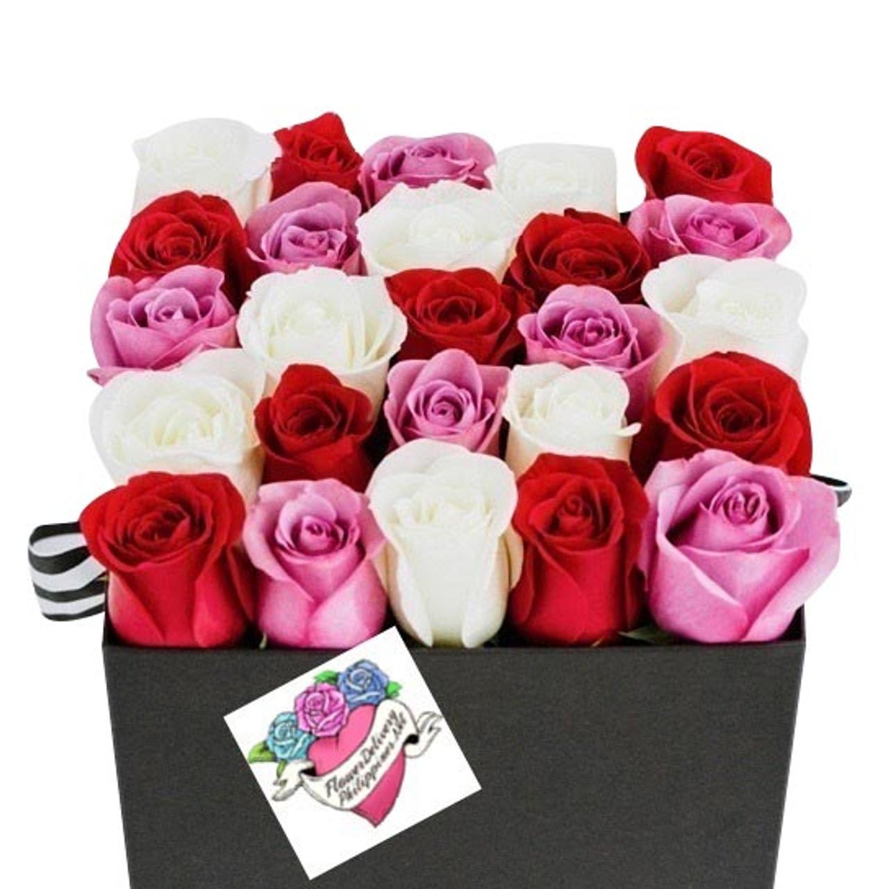 25 Assorted Roses Premium Box