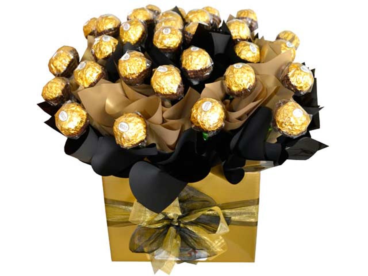 Gold & Black Custom Ferrero Box