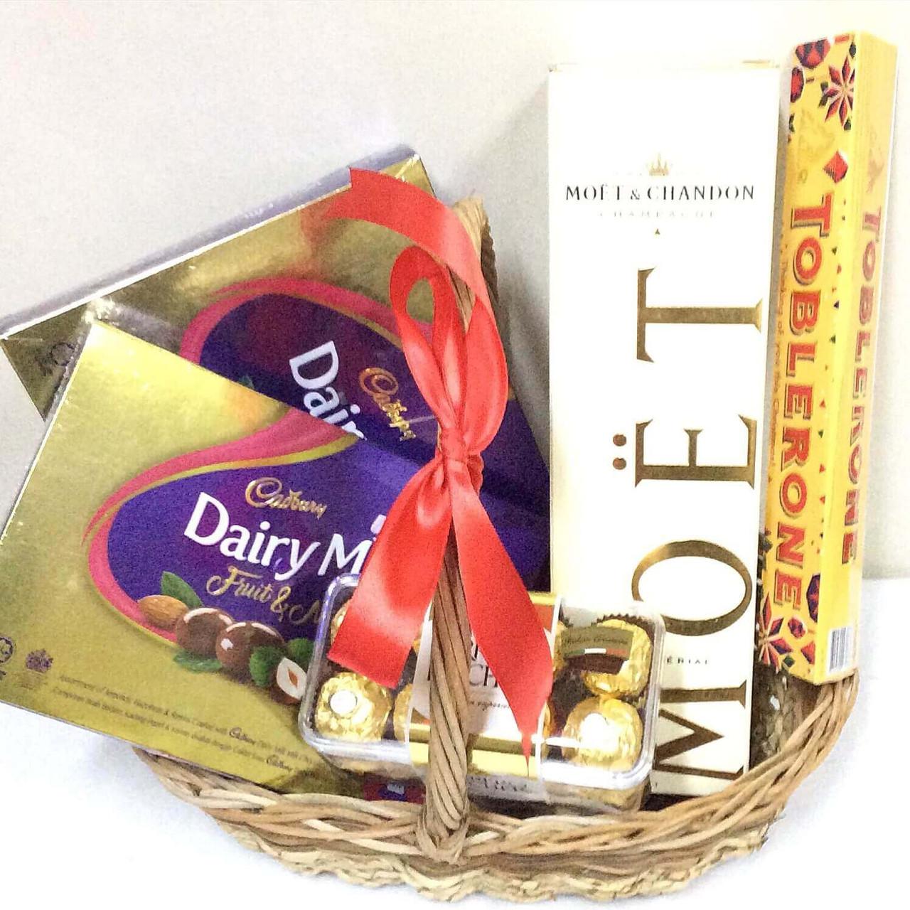 Moet & Chocolates Gift Basket