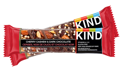 KIND Bars Cherry Cashew & Dark Chocolate multipacks.