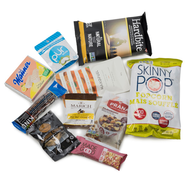 SNACK HEROS Snack Pack.  Filled with sweet and savoury individual sized snacks.