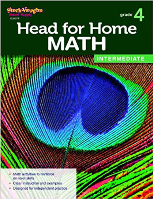 Head for Home Math Intermediate Workbook Grade 4