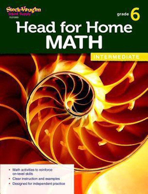 Head for Home Math Intermediate Workbook Grade 6
