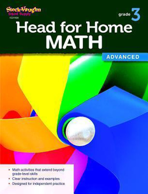Head for Home Math Advanced Workbook Grade 3
