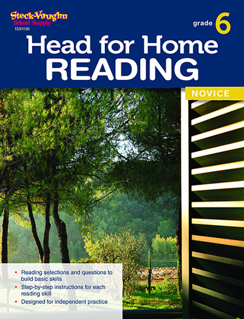 Head for Home Reading Novice Workbook Grade 6