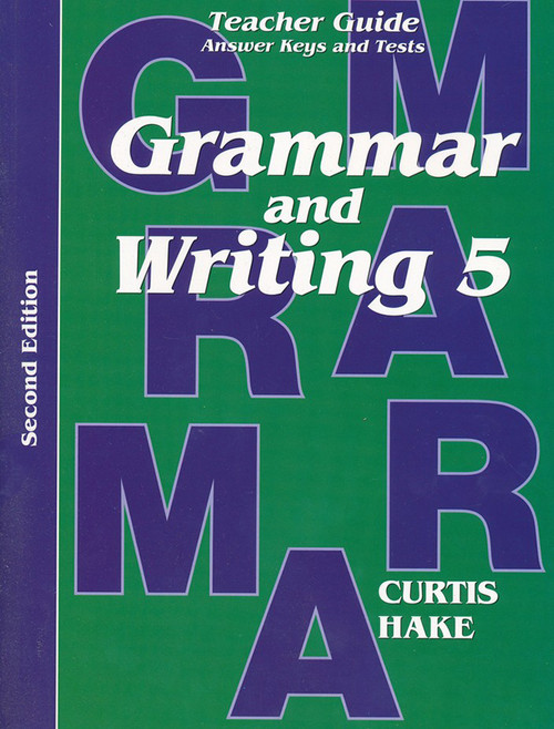 Saxon Grammar and Writing 5 Teacher Packet with Answer Keys and Tests 2nd Edition