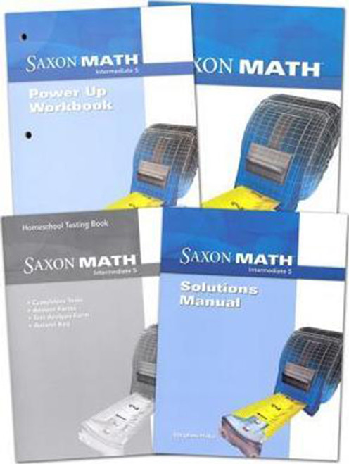 Saxon Math Intermediate 5 Homeschool Package