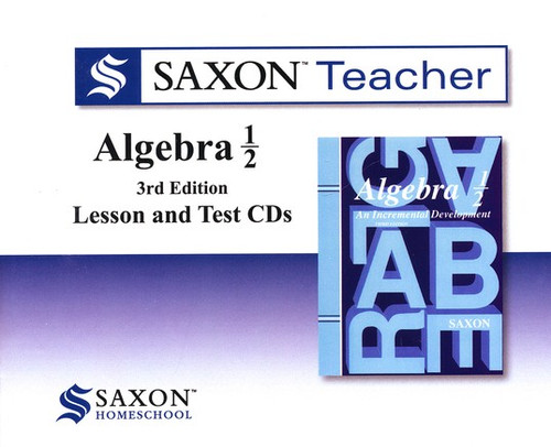 Saxon Algebra 1/2 Homeschool Teacher CD-ROM Set