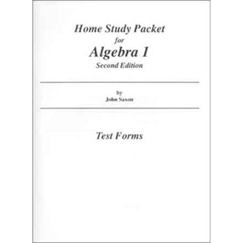 Saxon Algebra 1 Homeschool Tests Book 4th Edition