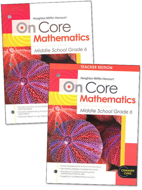 On Core Math Teacher and Student Bundle Grade 6