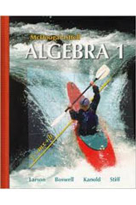 Holt McDougal Larson Algebra 1 Transparencies Book Chapter 1 Algebra 1