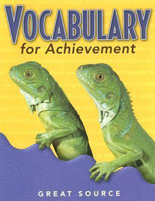 Great Source Vocabulary for Achievement Student Book 3rd Grade
