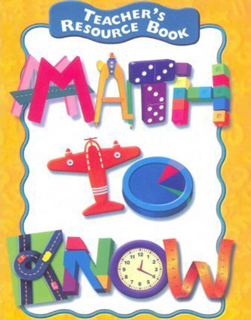 Math to Know Teacher Resource Book