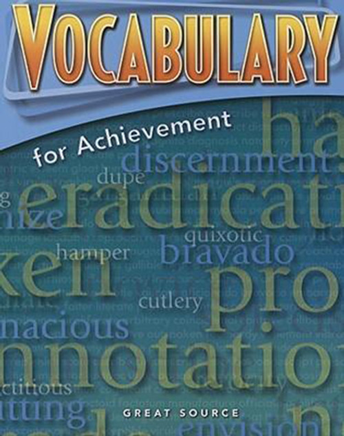 Great Source Vocabulary for Achievement Student 9th Grade