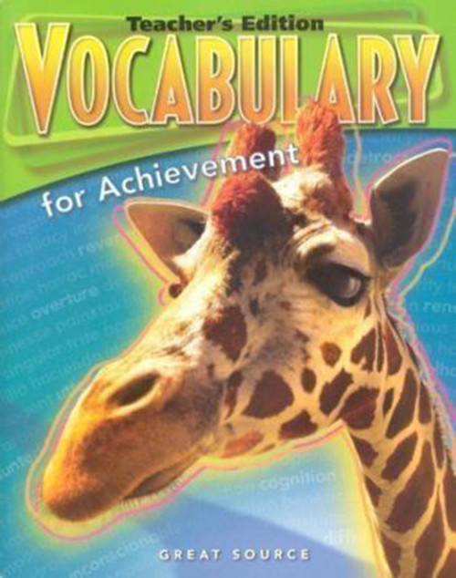 Great Source Vocabulary for Achievement Teacher Edition 9th Grade