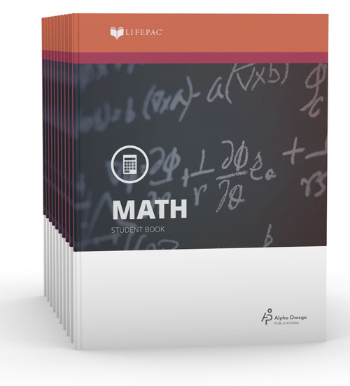 LIFEPAC Math Set of 10 Student Books 6th Grade
