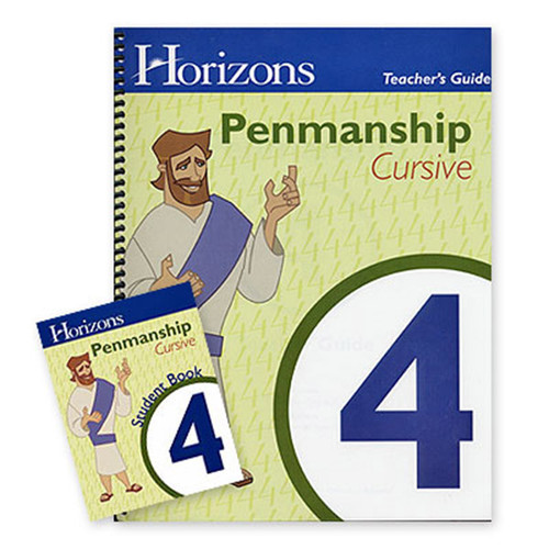 Horizons Penmanship Homeschool Curriculum Set 4th Grade