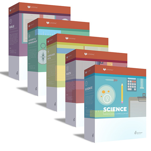 LIFEPAC 5-Subject Homeschool Curriculum Set 4th Grade
