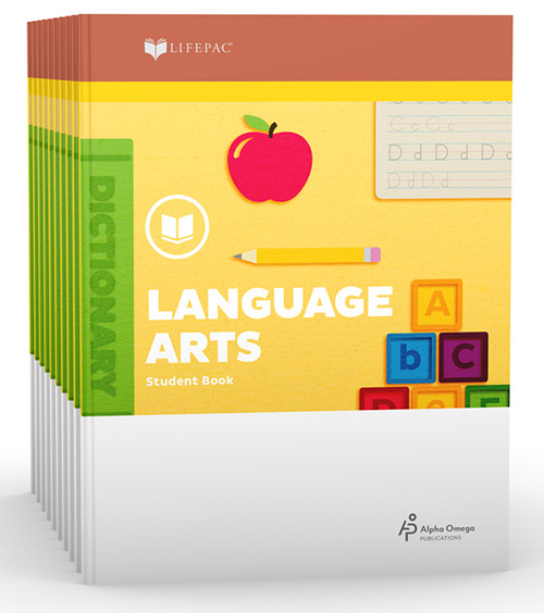 LIFEPAC Language Arts Set of 10 Student Books 2nd Grade