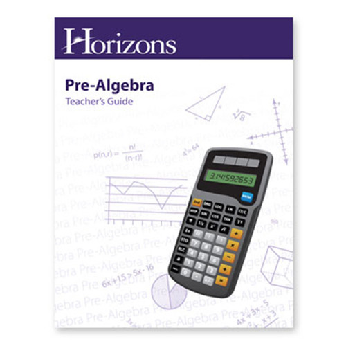 Horizons Pre-Algebra Teachers Guide Book