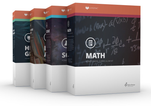 LIFEPAC 12th Grade Core 4-Subject Homeschool Curriculum Set
