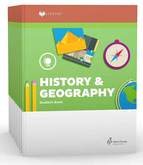 LIFEPAC History & Geography Set of 10 Student Books 2nd Grade