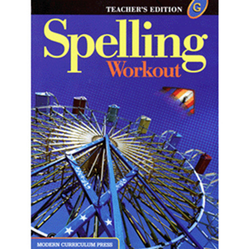 MCP Spelling Workout 2002 Teacher Book G