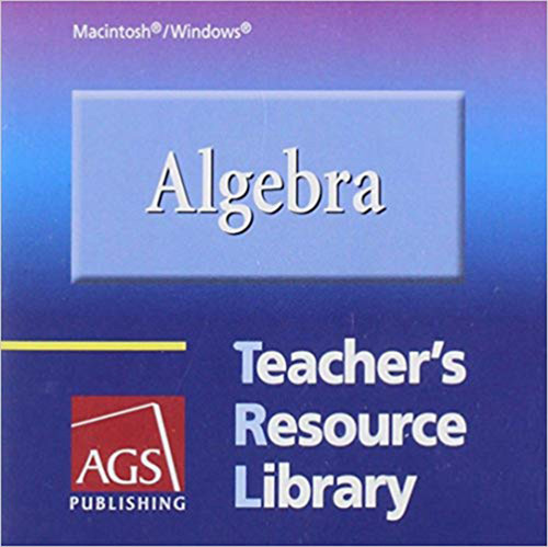 AGS Algebra 1 Teacher Book Resource Library CD-ROM