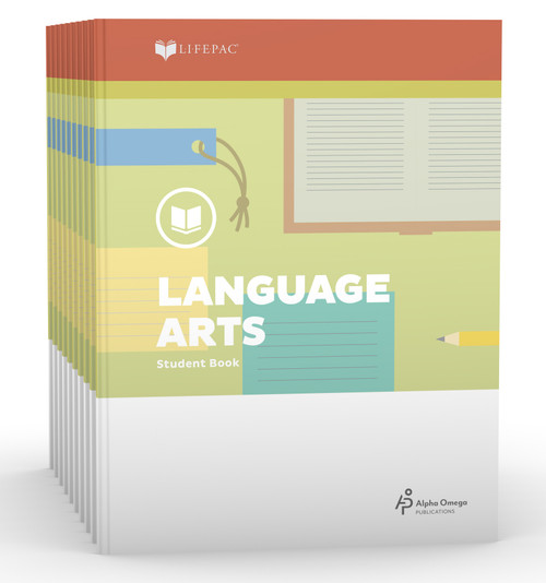 LIFEPAC Language Arts Set of 10 Student Books 3rd Grade