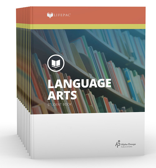 LIFEPAC Language Arts Set of 10 Student Books 7th Grade