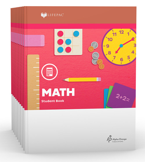 LIFEPAC Math Set of 10 Student Books 1st Grade