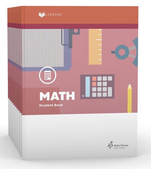 LIFEPAC Math Set of 10 Student Books 4th Grade