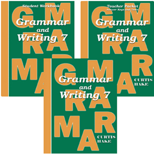 Saxon Grammar and Writing 7 Homeschool Curriculum Kit 1st Edition