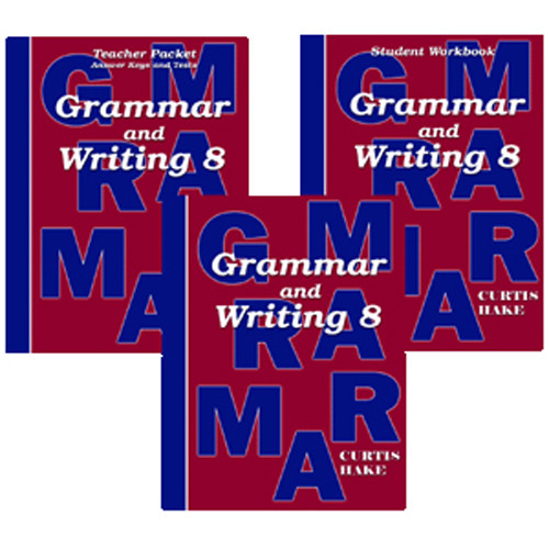 Saxon Grammar and Writing 8 Homeschool Curriculum Kit 1st Edition