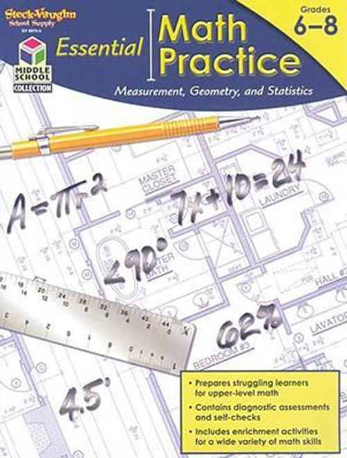 Essential Math Practice Reproducible Measurement, Geometry, and Statistics