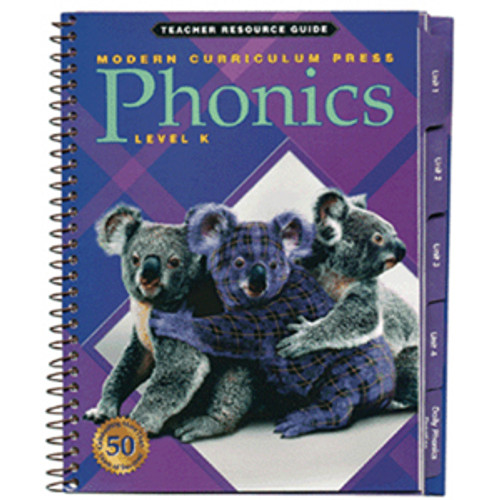 MCP Plaid Phonics Teacher Guide Book Level K