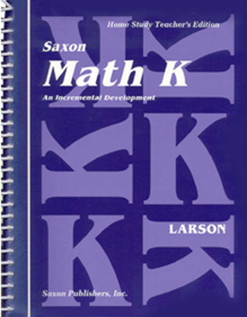 Saxon Math K Homeschool Teachers Manual