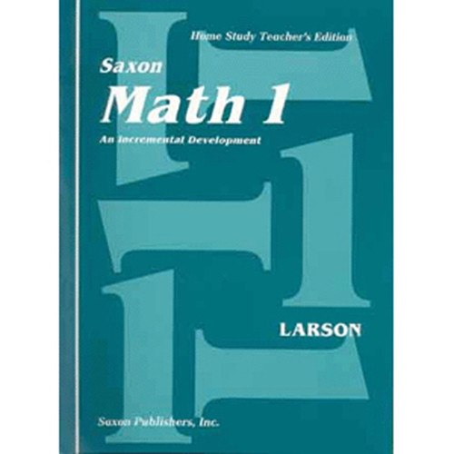 Saxon Math 1 Homeschool Teachers Manual