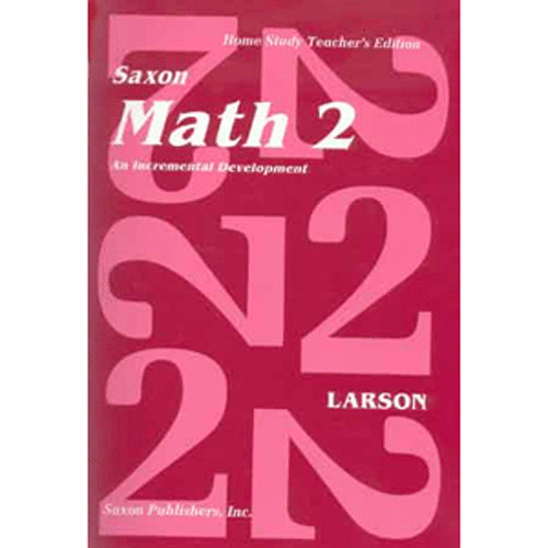 Saxon Math 2 Homeschool Teachers Manual
