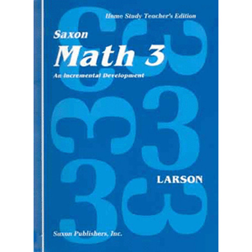 Saxon Math 3 Homeschool Teachers Manual