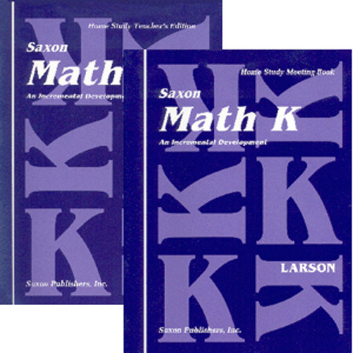 Saxon Math K Homeschool Curriculum Kit