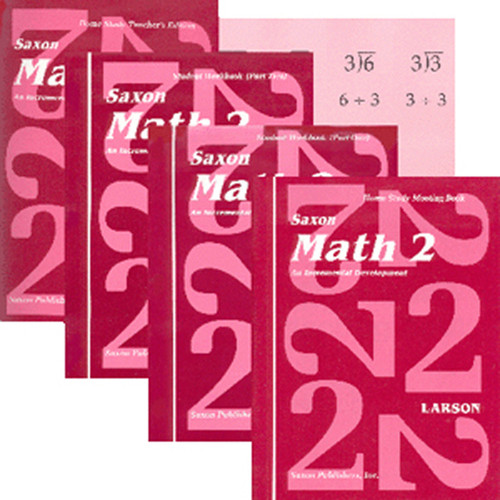 Saxon Math 2 Homeschool Curriculum Kit